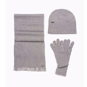 ✨SALE✨CALVIN KLEIN Solid Knit Hat, Gloves, Scarf
